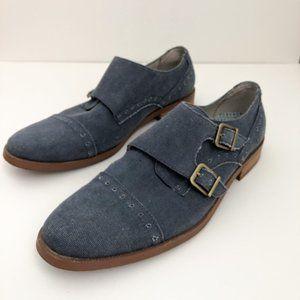 Mens Penguin Munsingwear Denim Blue Dress Shoes